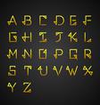Gold Alphabet Set vector image