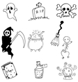 Halloween doodle on white backgrounds vector image