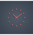 red simple watches with shadow vector image