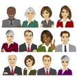 set of business people avatar collection vector image