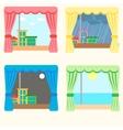 set of four windows vector image