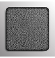 Silver square button on square grey background vector image