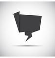 Simply grey paper origami icon vector image