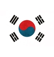 True proportions South Korea flag with texture vector image