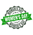 womens day stamp sign seal vector image