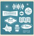 vintage restaurant logo vector image