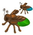 Bronze figure of insect bee or fly vector image