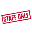 Staff Only rubber stamp vector image