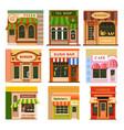 flat shop store icon set vector image vector image