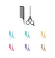 of barbershop symbol on vector image