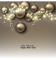 Christmas background with balls Golden Xmas vector image