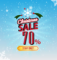 Christmas Sale 70 Percent typographic background vector image