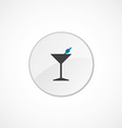 cocktail icon 2 colored vector image