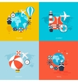 World travel concept backgrounds set Flat icons vector image
