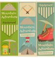 mountains equipment set vector image vector image