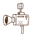 Hand Drawn Video Camera vector image