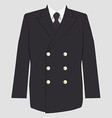 Military coat uniform vector image