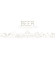 Beer graphic design Banner flyer vector image