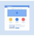 Website on Browser Window vector image vector image