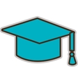 blue graduation hat graphic vector image
