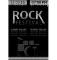 Rock festival banner vector image