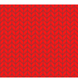 Flat knitting seamless pattern vector image