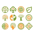Isolated abstract green orange color natural logo vector image