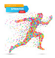 run winner man image consisting of dots vector image