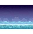 Seamless cartoon arctic landscape vector image