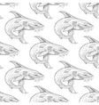 shark pattern on white background vector image