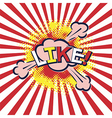 word like in popart style vector image