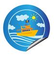 leisure cruise sticker vector image