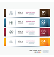 business step paper data and numbers template vector image