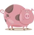 pig farm animal cartoon vector image vector image