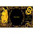 template with sign chinese horoscope horse vector image vector image