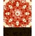Mandala with blank banner vector image