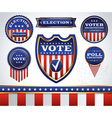 Vote Badges vector image vector image