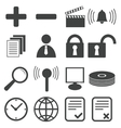 Simple black icon set 9 vector image