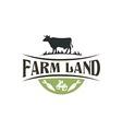 buffalo farm land harvest vintage logo vector image