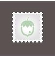 Nut stamp Outline vector image