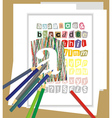 draw the alphabet vector image vector image