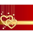 golden heart background vector image vector image