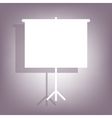 Blank Projection screen icon vector image
