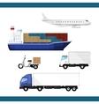 Delivery transport set vector image