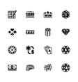 gambling - flat icons vector image