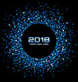 happy new year 2018 card background vector image