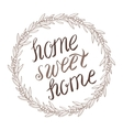Home sweet home lettering in wreath vector image