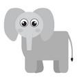 isolated cute elephant vector image