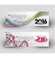 New year 2016 website banner vector image