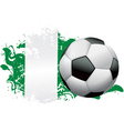 Nigeria Soccer Grunge vector image